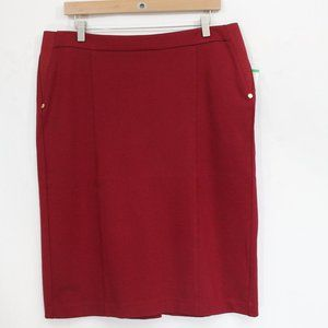 Anne Klein Ponte Knit Pencil Skirt NEW Women